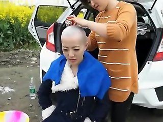 asian, straight, Chinese Girl Headshave