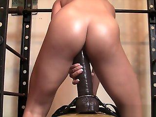 ass, straight, Leena Loves Her Tall Dildo