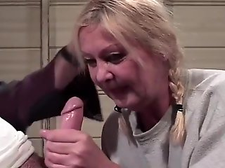 blonde, straight, handjob