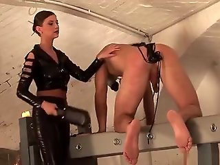 toys, straight, Hot German Dominatrix Enjoys Punishing Her Suppliant With