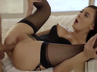 anal, straight, stockings