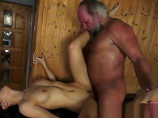 cumshot, straight, Teen Fucked By Old Man