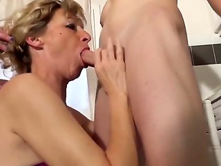 group sex, cougar, Sexy mature threesome