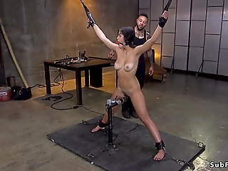 bdsm, anal, Black master brutal anal bangs Asian sub