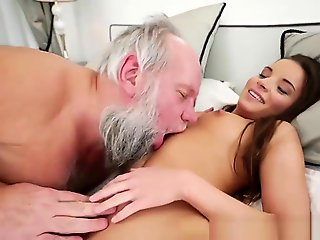 hardcore, straight, Horny Old Man Shows This Teenage Harlot He Still Got Diversion