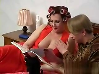 big tits, straight, Busty Old lady Helga Vs Young Slava 1
