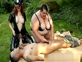 outdoor, straight, threesome