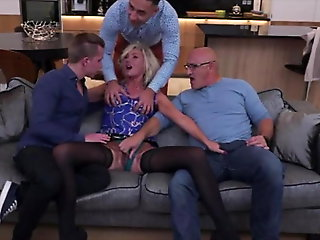 blonde, anal, group sex