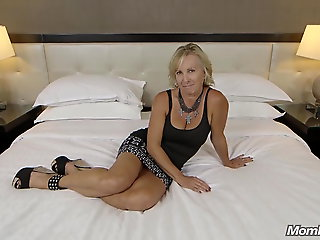 facial, amateur, All Natural Big Tits Czech MOM First Porn & Facial Ever POV