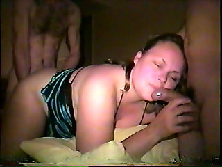 gangbang, amateur, Husband Makes Me Fuck Another Two Total Strangers