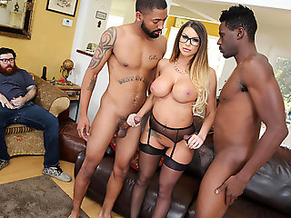 blowjob, anal, Brooklyn Chase Gives Special Treatment To Her Cuckold Client