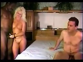 bisexual, blowjob, Cuck helps wifey bi mmf