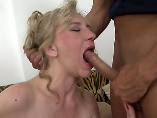mature, amateur, Home sex with good granny and bad boy