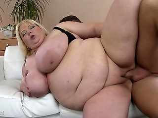 mature, bbw, SUPERSIZED full-grown mother on young boy
