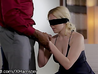interracial, blonde, Retrench Gives Unconscious of Tow-headed Wife A Gift! Another Mans BBC!
