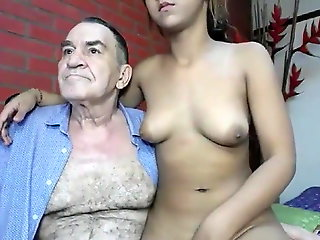 blowjob, webcam, grandpa fucking young girl