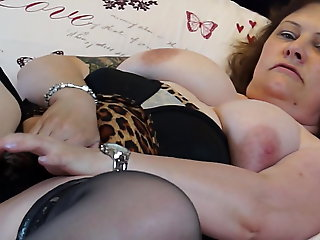 mature, bbw, Real mature mother with big interior coupled with bedraggled pussy