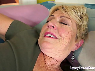 cumshot, amateur, Chubby granny pounded on her regarding