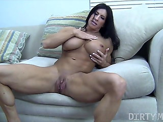 milf, brunette, Angela Salvagno Huge Labia Big Clit Huge Dildo