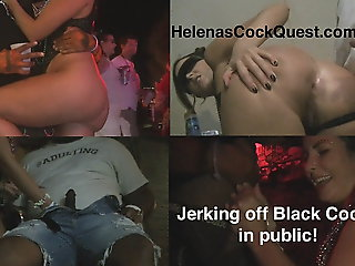 flashing, public nudity, Helenas BBC Quest Public Interracial Sucking With an increment of Fucking!
