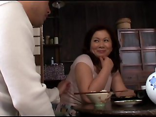 mature, japanese, Night Visiting for Stepfather