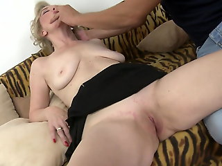 mature, blowjob, Old mothers suck and fuck young sons