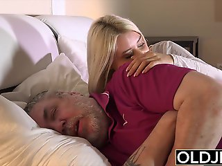 blowjob, blonde, To boot young to cook old enough to intrigue b passion