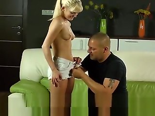 small tits, straight, Natural Nympho Gapes Succulent Twat And Loses Virginity