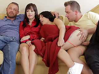 creampie, latina, Gina Valentina approximately Family Flicks - NUBILESPorn