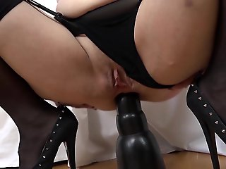 granny, double penetration, Granny has experience with black dicks